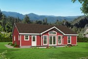 Country Style House Plan - 2 Beds 2 Baths 1688 Sq/Ft Plan #932-61 Exterior - Rear Elevation