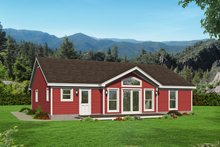 Country Exterior - Rear Elevation Plan #932-61