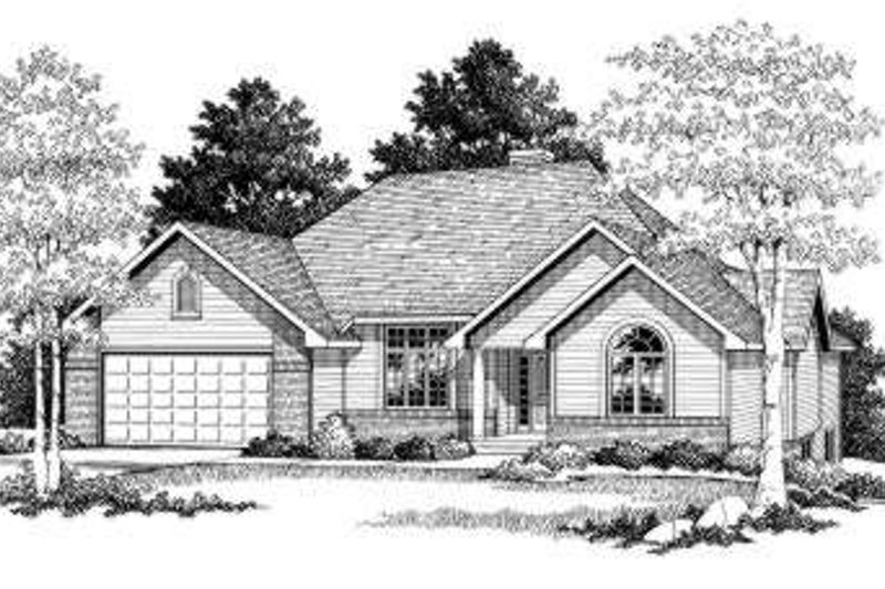 Traditional Exterior - Front Elevation Plan #70-757