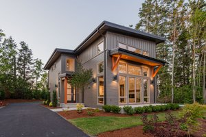 Dream House Plan - Contemporary Exterior - Front Elevation Plan #1070-14