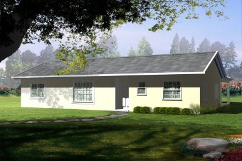 Adobe / Southwestern Style House Plan - 3 Beds 2 Baths 1345 Sq/Ft Plan #1-241