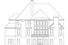 Dream House Plan - European Exterior - Rear Elevation Plan #419-240