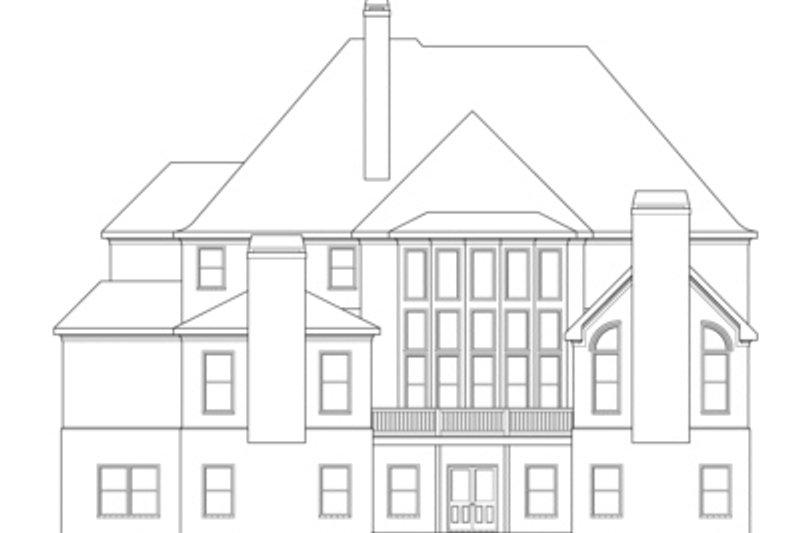 European Exterior - Rear Elevation Plan #419-240 - Houseplans.com