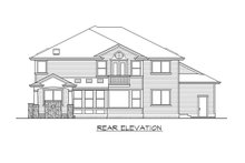 Dream House Plan - Traditional Exterior - Rear Elevation Plan #132-569