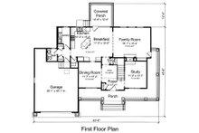 Country Floor Plan - Main Floor Plan Plan #46-488