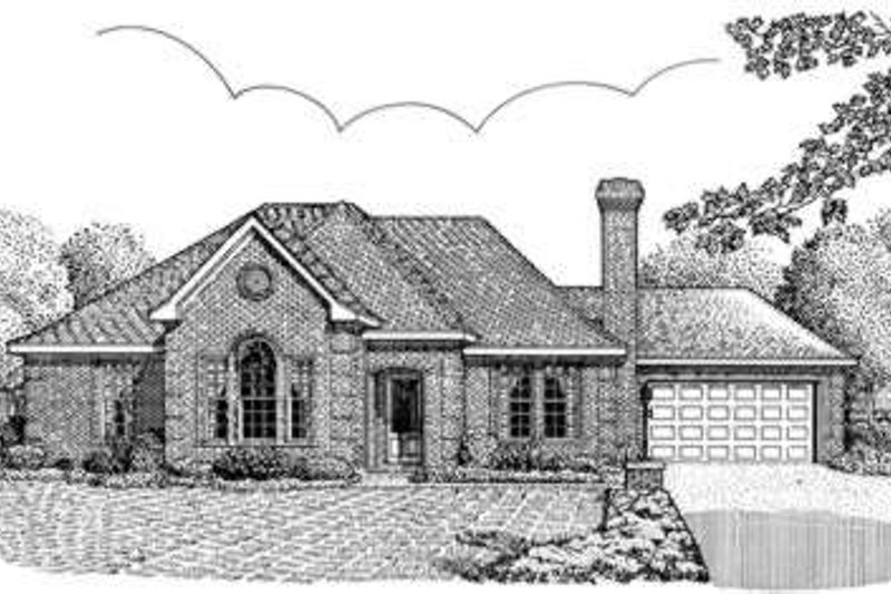 European Exterior - Front Elevation Plan #410-326