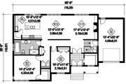 Contemporary Style House Plan - 2 Beds 1 Baths 1494 Sq/Ft Plan #25-4335 Floor Plan - Main Floor Plan