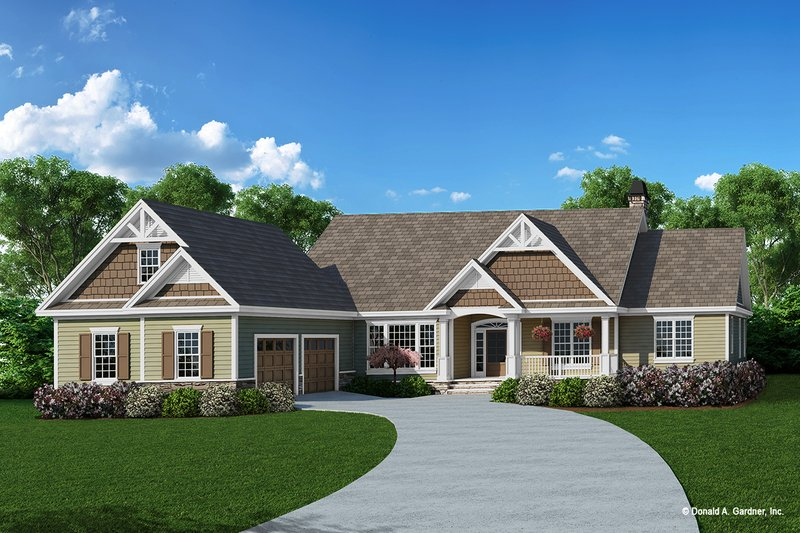 Dream House Plan - Craftsman Exterior - Front Elevation Plan #929-431