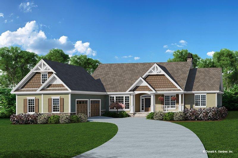 House Plan Design - Craftsman Exterior - Front Elevation Plan #929-431