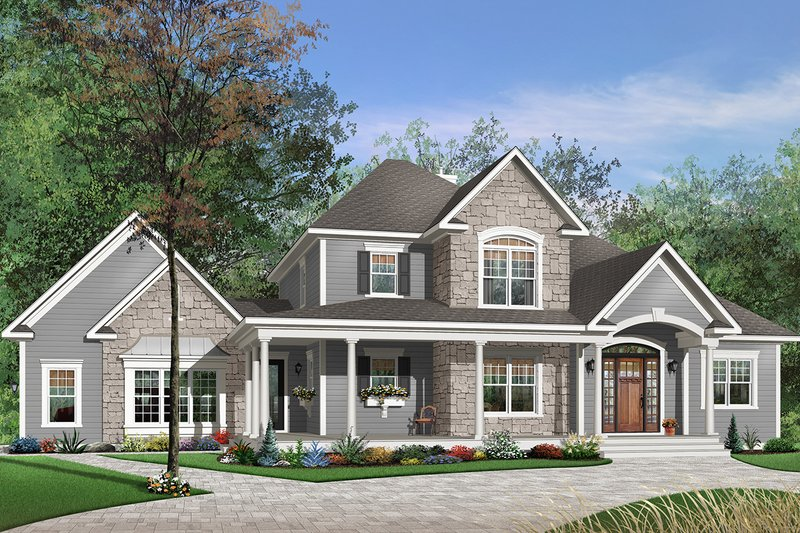 Traditional Exterior - Front Elevation Plan #23-543
