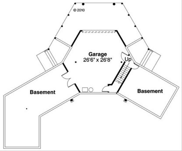 Craftsman Floor Plan - Upper Floor Plan Plan #124-853