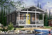 Cottage Style House Plan - 2 Beds 1 Baths 540 Sq/Ft Plan #23-2291