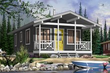 Cottage Exterior - Front Elevation Plan #23-2291