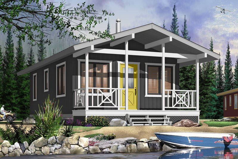 Cottage Style House Plan - 2 Beds 1 Baths 540 Sq/Ft Plan #23-2291 Exterior - Front Elevation