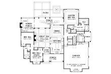 Craftsman Floor Plan - Main Floor Plan Plan #929-32