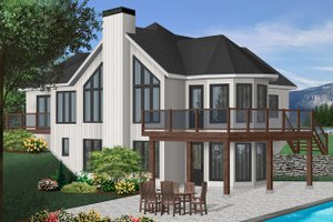 Contemporary Exterior - Front Elevation Plan #23-2168