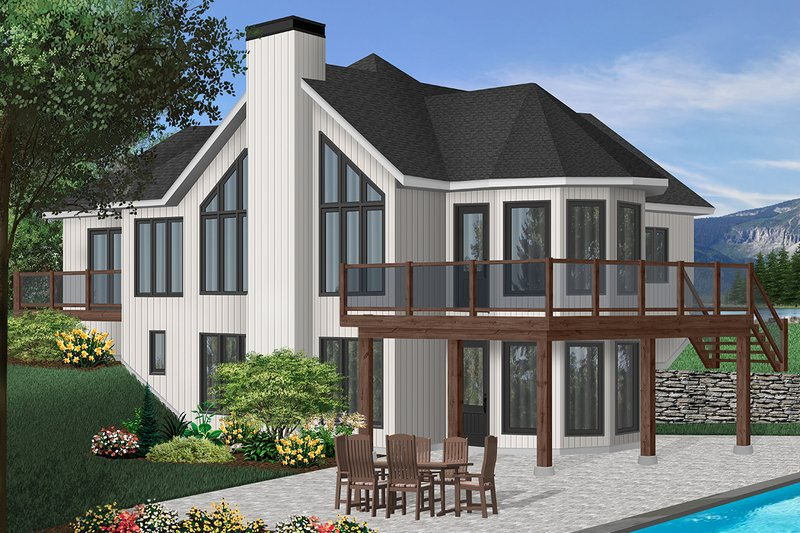Architectural House Design - Contemporary Exterior - Front Elevation Plan #23-2168