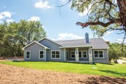 Craftsman Style House Plan - 3 Beds 2.5 Baths 2407 Sq/Ft Plan #20-2412 Exterior - Rear Elevation