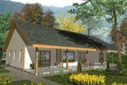 Cabin Style House Plan - 2 Beds 2 Baths 1727 Sq/Ft Plan #117-517 Exterior - Front Elevation