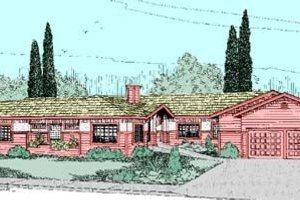 Ranch Exterior - Front Elevation Plan #60-260
