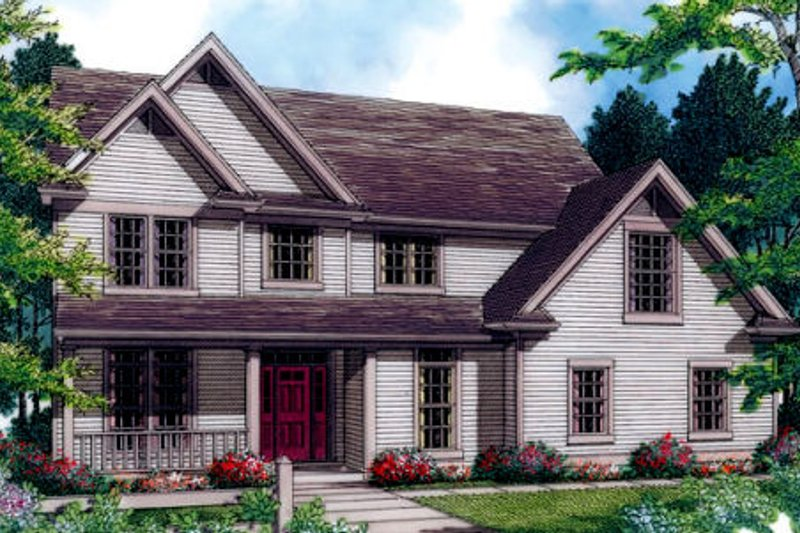 Architectural House Design - Country Exterior - Front Elevation Plan #48-176