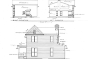 Victorian Style House Plan - 4 Beds 3 Baths 1737 Sq/Ft Plan #10-228 Exterior - Other Elevation