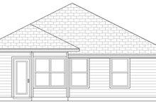 Cottage Exterior - Rear Elevation Plan #84-495