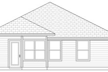 Home Plan - Cottage Exterior - Rear Elevation Plan #84-495