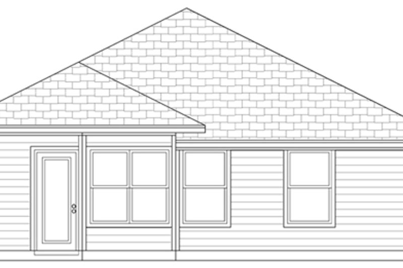 Cottage Exterior - Rear Elevation Plan #84-495 - Houseplans.com
