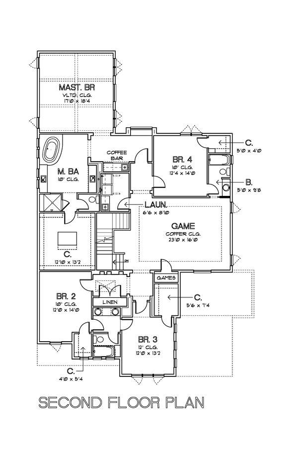 Modern Floor Plan - Upper Floor Plan #449-17