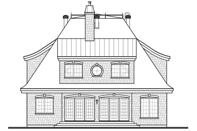 Rear View - 2600 square foot European home