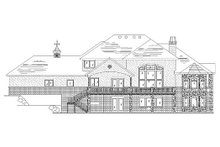 European Exterior - Rear Elevation Plan #5-397