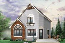 Cottage Exterior - Front Elevation Plan #23-493