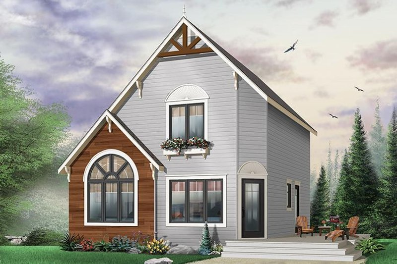 Home Plan - Cottage Exterior - Front Elevation Plan #23-493