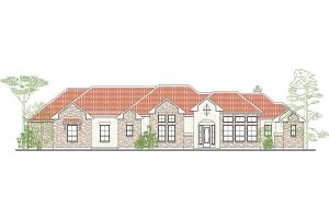 Mediterranean Exterior - Front Elevation Plan #80-188