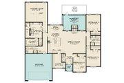European Style House Plan - 4 Beds 2.5 Baths 2509 Sq/Ft Plan #923-187 Floor Plan - Main Floor
