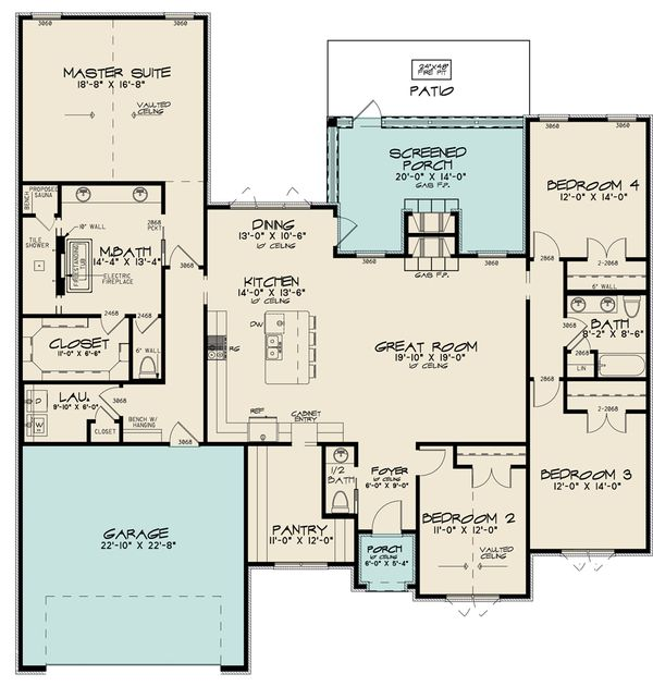Dream House Plan - European Floor Plan - Main Floor Plan #923-187
