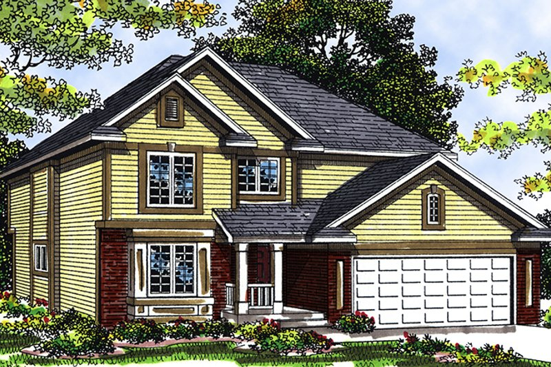 Dream House Plan - Traditional Exterior - Front Elevation Plan #70-265