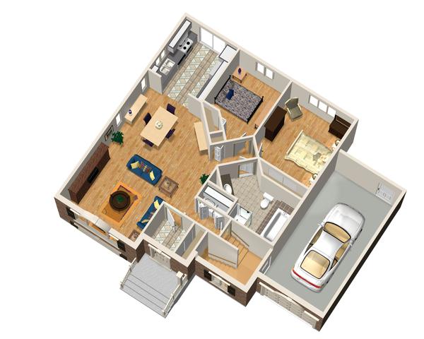Country Floor Plan - Main Floor Plan Plan #25-4639