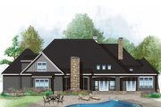 European Style House Plan - 4 Beds 3 Baths 2910 Sq/Ft Plan #929-1023 Exterior - Rear Elevation