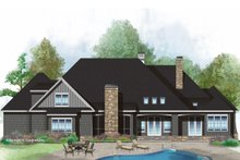 European Exterior - Rear Elevation Plan #929-1023