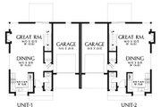 Modern Style House Plan - 6 Beds 4 Baths 2814 Sq/Ft Plan #48-928