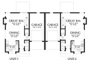 Modern Style House Plan - 6 Beds 4 Baths 2814 Sq/Ft Plan #48-928