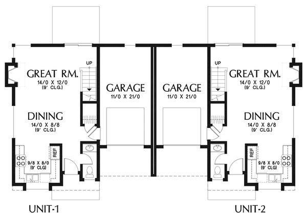 Modern Floor Plan - Main Floor Plan Plan #48-928