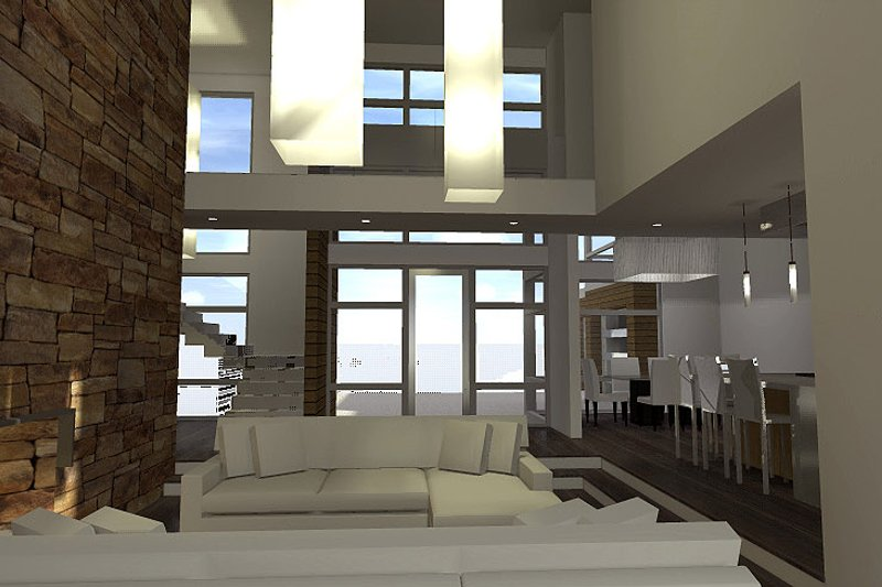 Modern Interior - Family Room Plan #64-221 - Houseplans.com
