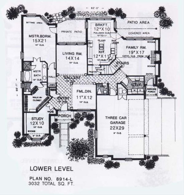Colonial Floor Plan - Main Floor Plan #310-913