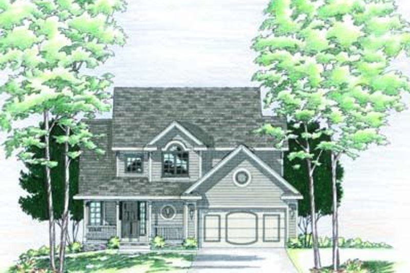 Traditional Exterior - Front Elevation Plan #20-474 - Houseplans.com