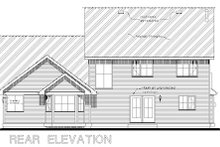 Country Exterior - Rear Elevation Plan #18-288