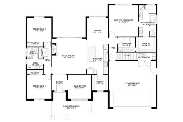 Traditional Floor Plan - Main Floor Plan #1060-59