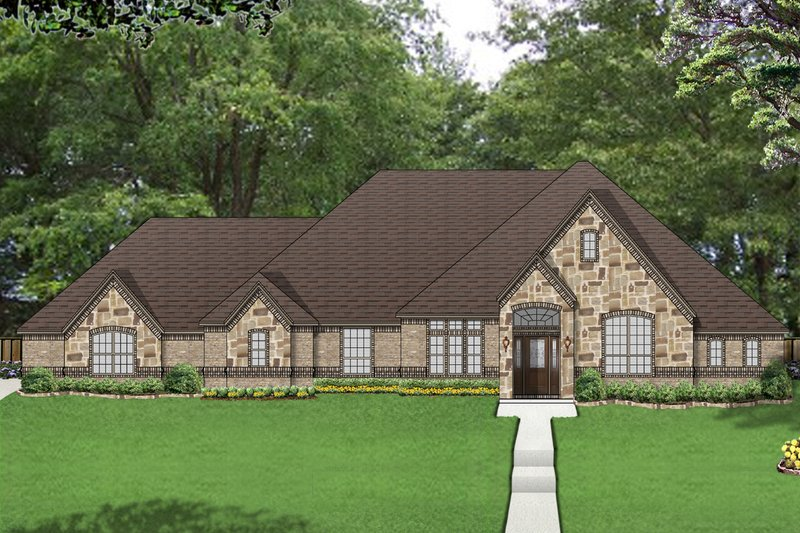 European Exterior - Front Elevation Plan #84-524 - Houseplans.com
